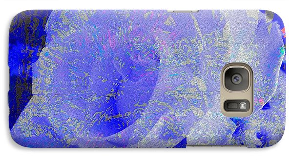 Galaxy Case featuring the photograph Blue Rose by Kathie Chicoine