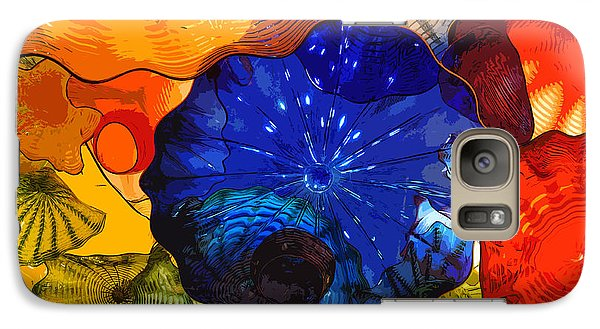 Galaxy Case featuring the digital art Blue Rose by Kirt Tisdale