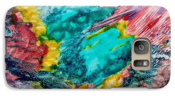 Galaxy Case featuring the painting Blue Rush by Joan Reese