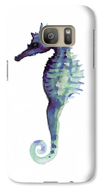 Blue Seahorse Galaxy S7 Case by Joanna Szmerdt