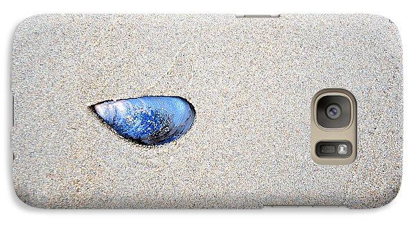 Galaxy Case featuring the photograph Blue Shell by Randi Grace Nilsberg