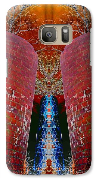 Galaxy Case featuring the photograph Blue Silo by Karen Newell