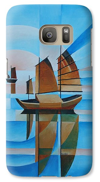 Galaxy Case featuring the painting Blue Skies And Cerulean Seas by Tracey Harrington-Simpson