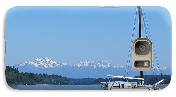Galaxy Case featuring the photograph Blue Skies And Thunder by Gayle Swigart