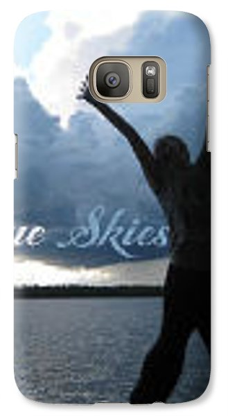 Blue Skies Gallery Logo Galaxy S7 Case by Tom Roderick