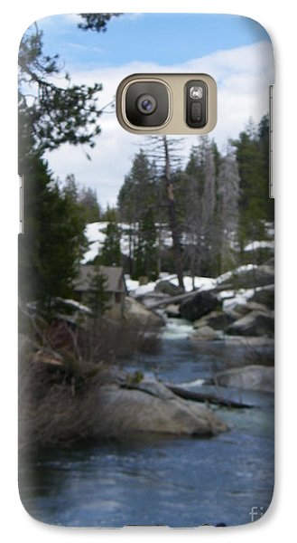 Galaxy Case featuring the photograph Blue Skies Of Winter by Bobbee Rickard