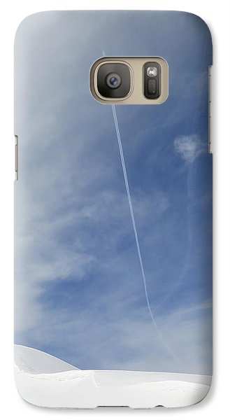Blue Sky And Snow Galaxy S7 Case
