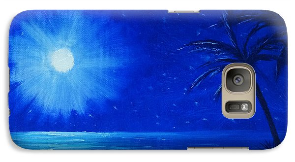 Galaxy Case featuring the painting Blue Sky At Night by Arlene Sundby
