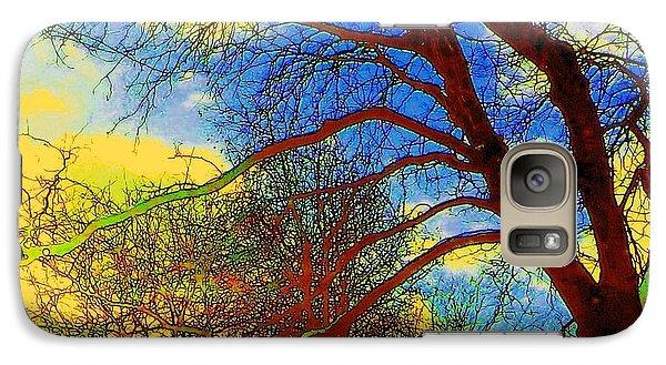 Galaxy Case featuring the photograph Blue Sky by Jodie Marie Anne Richardson Traugott          aka jm-ART