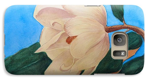 Galaxy Case featuring the painting Blue Sky Magnolia by Nancy Kane Chapman
