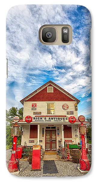 Galaxy Case featuring the photograph Blue Sky Over Rick's Antiques by Alan Raasch