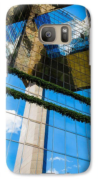 Galaxy Case featuring the photograph Blue Sky Reflections On A London Skyscraper by Peta Thames