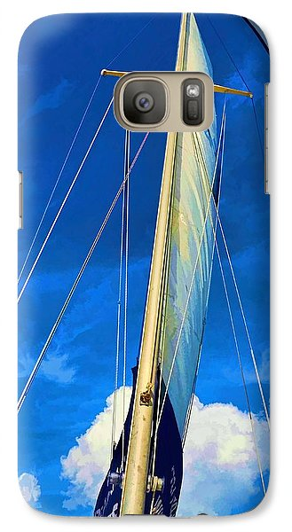 Galaxy Case featuring the photograph Blue Sky Sailing by Pamela Blizzard