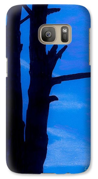 Galaxy Case featuring the drawing Blue Sky Tree by D Hackett