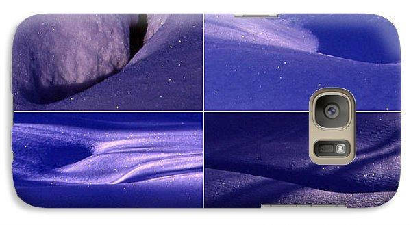 Galaxy Case featuring the photograph Blue Snow by Randi Grace Nilsberg