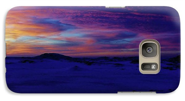 Galaxy Case featuring the photograph Blue Snow Sunset by Kathi Mirto