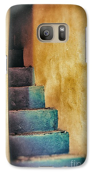 Blue Stairs - Yellow Wall    Galaxy S7 Case by Silvia Ganora