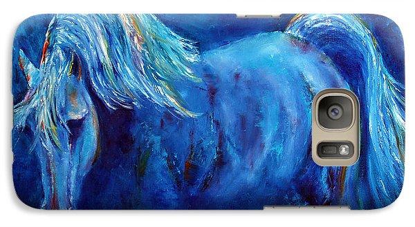 Galaxy Case featuring the painting Blue Stallion by Jennifer Godshalk