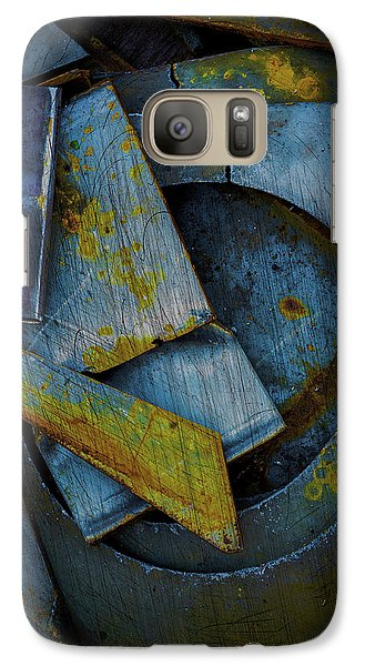 Galaxy Case featuring the photograph Blue Steel With Scratches by Craig Perry-Ollila