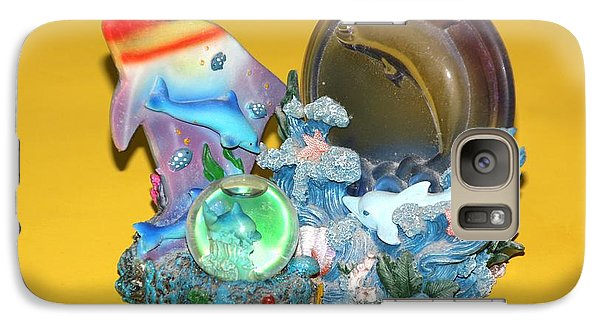 Galaxy Case featuring the photograph Blue Still Life On Yellow by Bill Woodstock