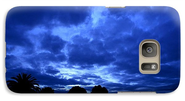 Galaxy Case featuring the photograph Blue Storm Rising by Mark Blauhoefer
