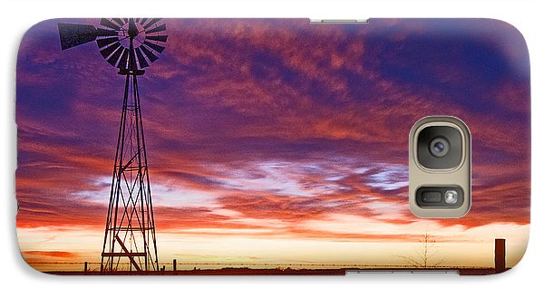 Galaxy Case featuring the photograph Blue Sunrise by Shirley Heier