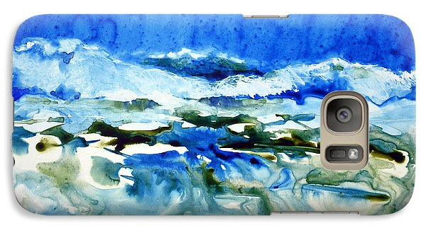 Galaxy Case featuring the painting Blue Surf by Joan Hartenstein