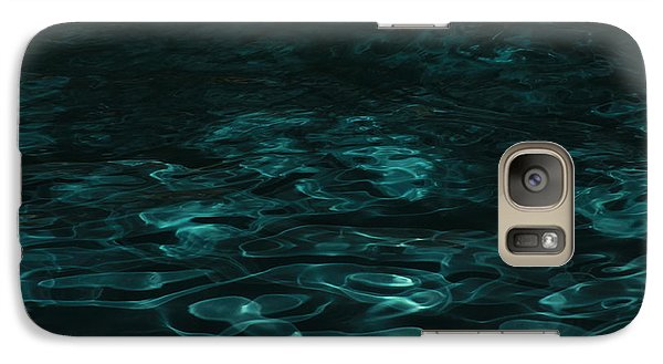 Galaxy Case featuring the photograph Blue Swirl One by Chris Thomas