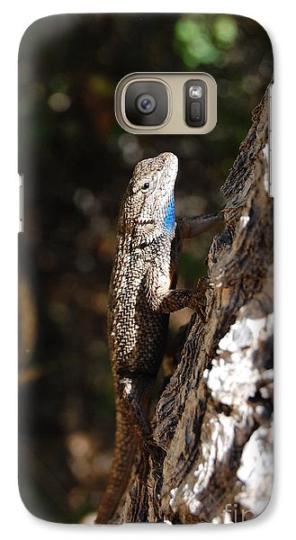 Galaxy Case featuring the photograph Blue Throated Lizard 3 by Debra Thompson