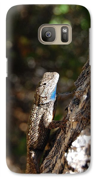 Galaxy Case featuring the photograph Blue Throated Lizard 4 by Debra Thompson