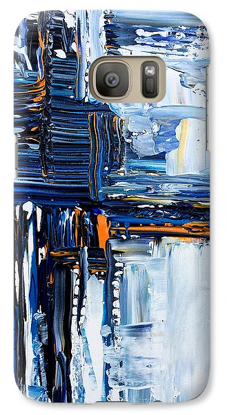 Galaxy Case featuring the painting Blue Thunder by Rebecca Davis