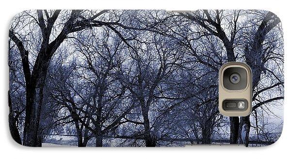 Galaxy Case featuring the digital art Blue Tone Trees by Aliceann Carlton