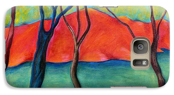 Galaxy Case featuring the painting Blue Tree 2 by Elizabeth Fontaine-Barr