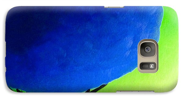 Galaxy Case featuring the painting Blue Tree by Anita Lewis