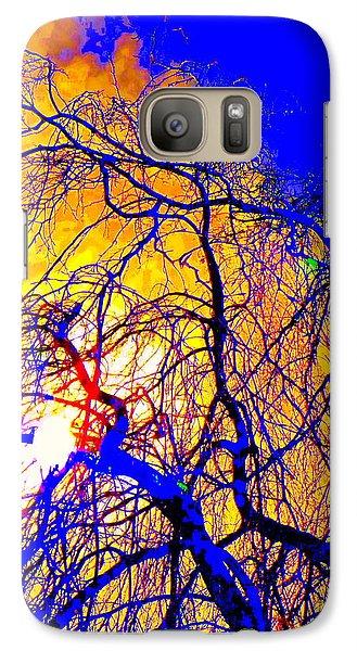 Galaxy Case featuring the photograph Blue Trees by Jodie Marie Anne Richardson Traugott          aka jm-ART