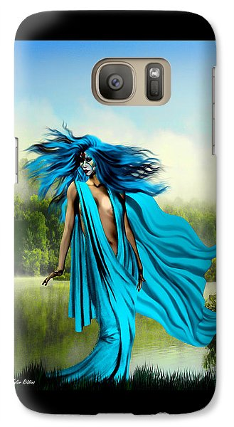 Galaxy Case featuring the painting Blue by Tyler Robbins