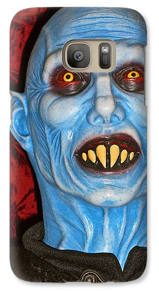 Galaxy Case featuring the photograph Blue Vampire by Joan Reese