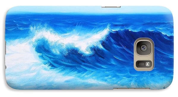Galaxy Case featuring the painting Blue by Vesna Martinjak