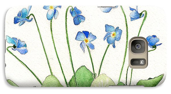 Galaxy Case featuring the painting Blue Violets by Nan Wright