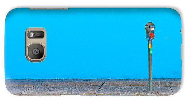 Galaxy Case featuring the photograph Blue Wall Parking by Darryl Dalton