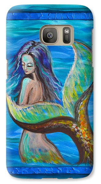 Galaxy Case featuring the painting Blue Water by Agata Lindquist
