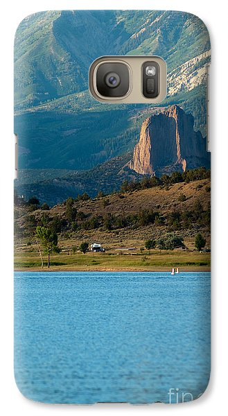 Galaxy Case featuring the photograph Blue Water And Needlrock by Eric Rundle