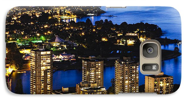 Galaxy Case featuring the photograph Blue Water Kitsilano Beach Mcdix by Amyn Nasser