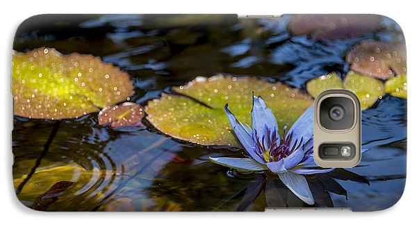Blue Water Lily Pond Galaxy Case by Brian Harig