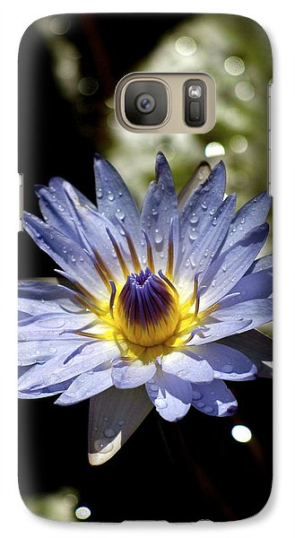 Galaxy Case featuring the photograph Waterlily After The Rain ... by Lehua Pekelo-Stearns