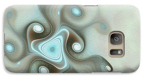 Galaxy Case featuring the digital art Blue Wave by Svetlana Nikolova