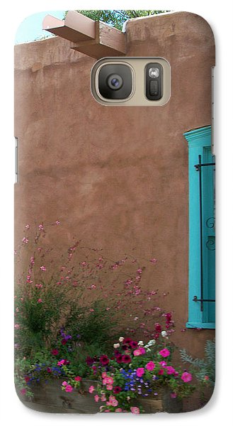 Galaxy Case featuring the photograph Blue Window by Sylvia Thornton