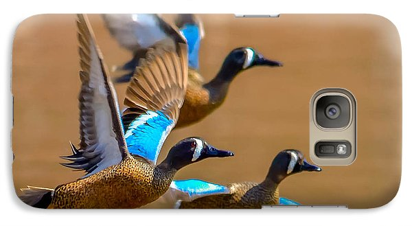 Galaxy Case featuring the photograph Blue-winged Teals by Brian Stevens