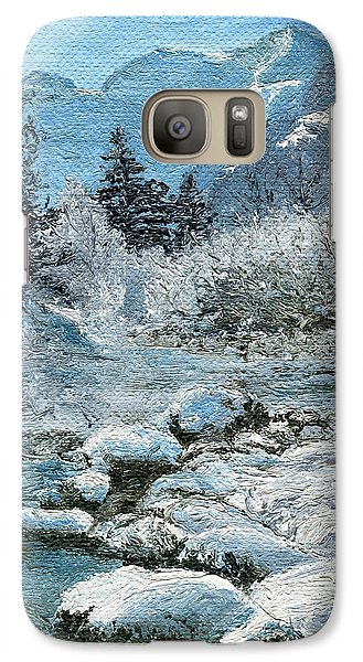 Galaxy Case featuring the painting Blue Winter by Mary Ellen Anderson