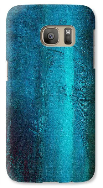 Galaxy Case featuring the painting Blue Winter by Yul Olaivar